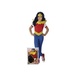 DC SUPER HERO GIRLS Déguisement Fille Wonder Woman T-L avec Perruque - Déguisement enfant