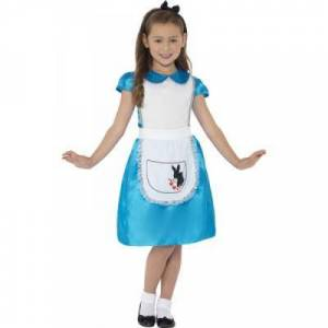 Smiffys Costume Alice Merveilles pour fille - 4-6 ans - Déguisement enfant