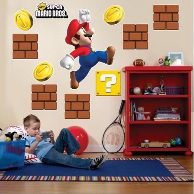 Birthday Express Décoration murale géante Super Mario Bros - Article de fête