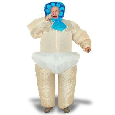 TotalCadeau Costume gonflable bébé dans sa couche culotte - Déguisement adulte
