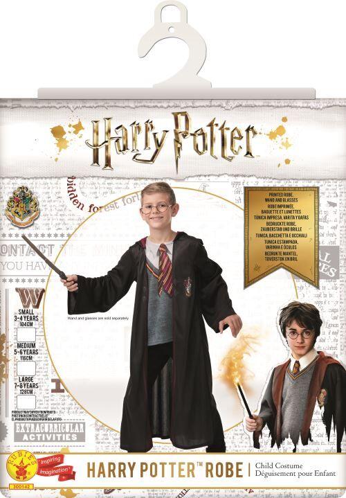 HARRY POTTER Costume, baguette et lunettes Harry Potter Taille L - Déguisement enfant
