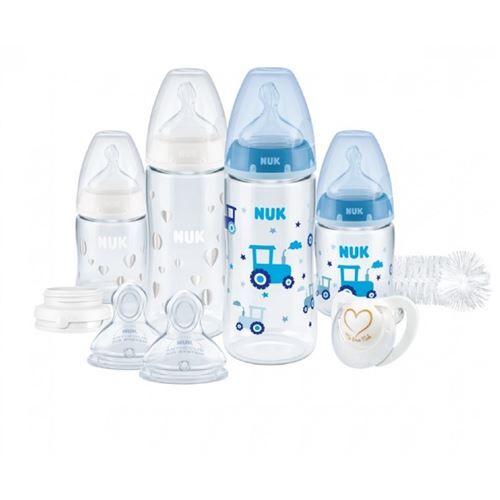 NUK Set de biberons Perfect Start First Choice+ Temperature Control - Biberons sans bisphénol A