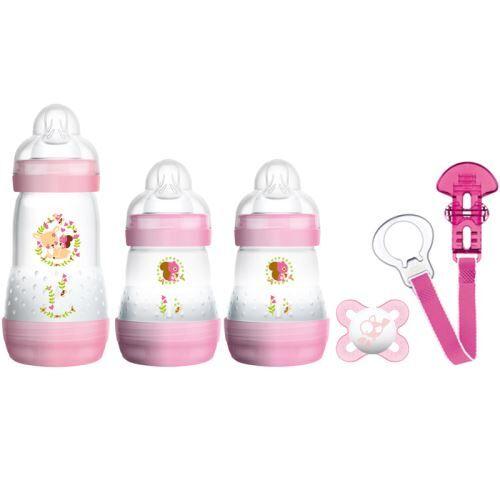 MAM Set Biberon Nouveau-Né rose Sans BPA - Biberons plastique