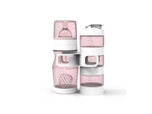 Non communiqué Natidiv - Coffret biberon rose 300ml et doseur - Biberons sans bisphénol A
