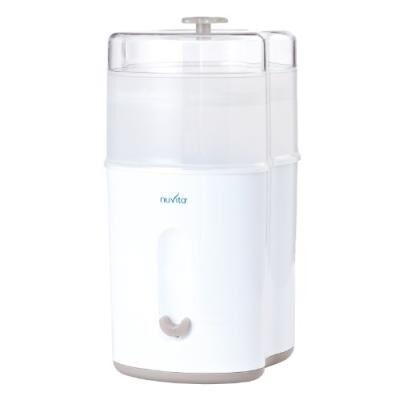 nuvita stérilisateur à vapeur stericompact blanc - biberons en verre