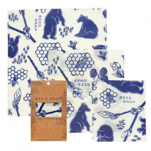 Non communiqué Lot de 3 Emballages réutilisables Bee's Wrap Multi taille Bears - BEE'S WRAP - Boîtes de conservation