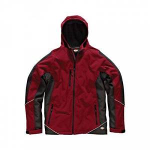 Dickies JW7010 RDB3XL Two Tone Veste Softshell Taille 3XL Rouge/Noir - Voiture