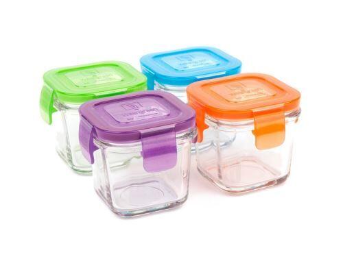 Non communiqué 4 Pots de Conservation en verre trempé 120ml Garden - WEANGREEN - Boîtes de conservation