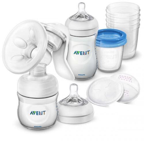 Avent Tire lait manuel natural pp avec biberon et pot de conservations - philips avent - Tire lait