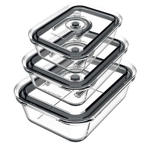 Astoria Kit de 3 boîtes en verre pour appareil de mise sous-vide Riviéra & Bar - Boîtes de conservation