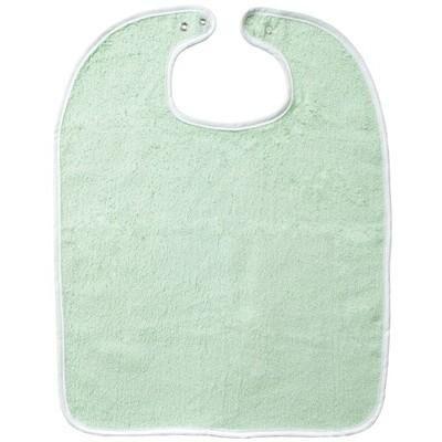 Majuscule - Lot de 10 bavoirs 37x50 à pression verts - Qualité éponge - Bavoirs