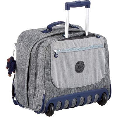 Kipling CLAS Dallin Cartable, 42 cm, 25 liters, Gris (Ash Denim BL) - Cartable, sac à dos primaire