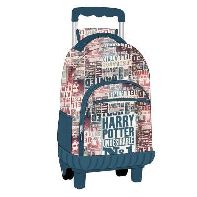 Artesanía Cerdá Artesania Cerda Mochila Carro Escolar Harry Potter Cartable, 49 cm, Bleu (Azul) - Cartable, sac à dos primaire