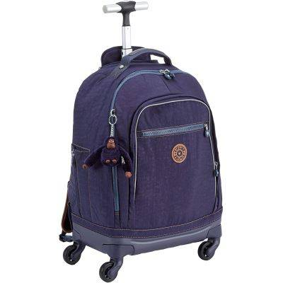 Kipling Echo Cartable, 50 cm, 29 liters, Bleu (Blue Tan Block) - Cartable, sac à dos primaire
