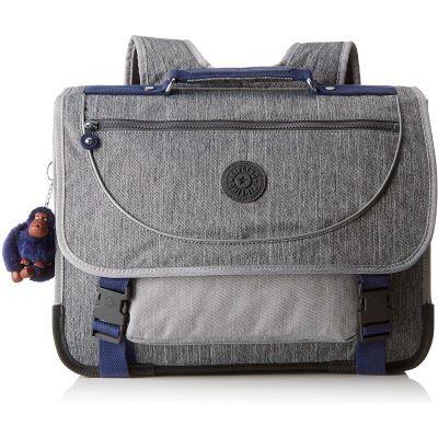 Kipling Preppy Sac à Dos Enfants, 41 cm, 21 liters, Gris (Ash Denim BL) - Cartable, sac à dos primaire