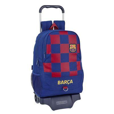 safta Sac à Dos Scolaire FC Barcelona 1a Equip. 19/20 Officiel avec Chariot 330 x 150 x 430 mm - Cartable, sac à dos primaire