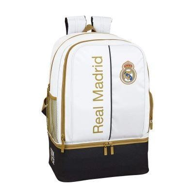 Real Madrid CF Sac à Dos de Sport avec Chaussures - Cartable, sac à dos primaire