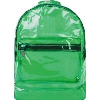 Mi-Pac Transparent Sac à Dos Loisir, 41 cm, Vert(Green) - Cartable, sac à dos primaire
