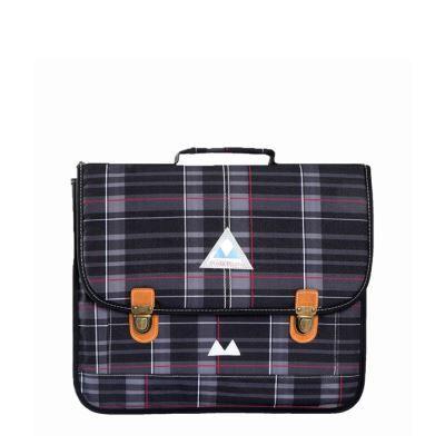 poids plume cartable scolaire be allover color 38 cm tartan gris - sacs à dos scolaires