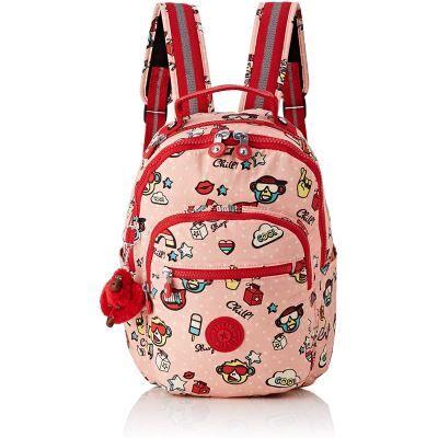 Kipling Seoul GO S Sac à Dos Enfants, 35 cm, 14 liters, Multicolore (Monkey Play) - Cartable, sac à dos primaire