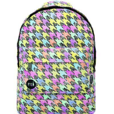 Mi-Pac Mini Sac à Dos Enfants, 33 cm, Multicolore(Dogtooth Multi) - Cartable, sac à dos primaire