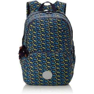 Kipling Hahnee Sac à dos enfants, 47 cm, 28 liters, Multicolore (Nocturnal Eye) - Cartable, sac à dos primaire