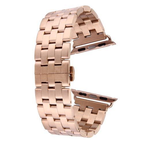 ALSATEK Apple Watch 38mm Bracelet en acier inoxydable 5 lignes Rose doré ALS62678 - Montre connectée
