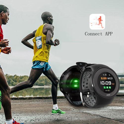 Ezon T958 GPS Course À Pied Sport Intelligent Blueteeth Montre avec Imperméable Poly042 - Montre connectée