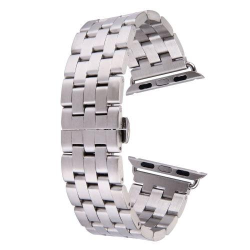 ALSATEK Apple Watch 38mm Bracelet en acier inoxydable 5 lignes Argenté ALS62679 - Montre connectée