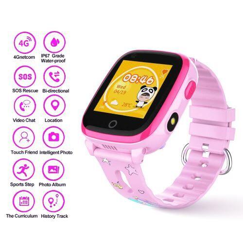 XCSOURCE DF33z étanche IP67 enfants montre intelligente 4G WIFI GPS Tracker SOS AC2179 - Bracelet et Tracker d'activité