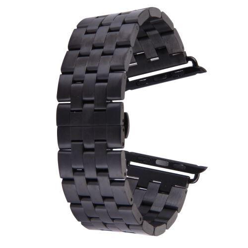 ALSATEK Apple Watch 42mm Bracelet en acier inoxydable 5 lignes Noir ALS62688 - Montre connectée