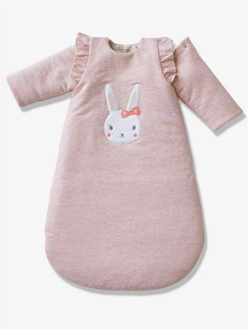 VERTBAUDET - Gigoteuse manches amovibles molleton LAPIN FEERIQUE - rose - 6/18M - Gigoteuses - Nids d'Ange