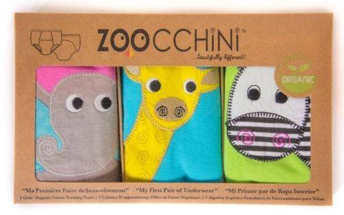 Zoocchini Culottes d'apprentissage Fille (2/3ans) - Safari - Pack de 3 - Accessoires de change