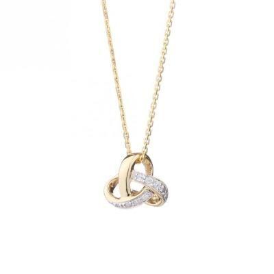Le diamantaire chaîne et pendentif or jaune 375° et diamants femme - Bijou bébé