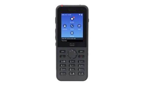 Cisco Unified Wireless IP Phone 8821 - Extension du combiné sans fil - avec Interface Bluetooth - IEEE 802.11a/b/g/n/ac (Wi-Fi) - SIP - 6 lignes - Autres