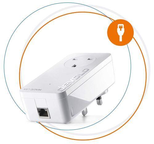 Devolo Magie 1 LAN Haute Performance Ajouter sur Adaptateur Powerline Jusqu'à 1200 Mbps pour Votre Powerline Home Network, Pass Through Socket, Internet Magique de Tout Mur Socket, Plug-and-Play, EAS - CPL