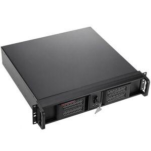 Rackmatic Boîtier rack 19 IPC Micro-ATX Mini-ITX 2U 4x3.5 1x5.25 profondeur 424 mm - Serveur multimédia