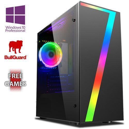 Vibox BX- 12 PC Gamer Ordinateur avec 2 Jeux Gratuits, Windows 10 Pro OS, 22 HD Écran (4,0GHz AMD Ryzen Quad-Core Processeur , Graphiques Radeon Vega Intégrés, 8GB DDR4 2400MHz RAM, 1TB HDD) - Ordinateur de bureau