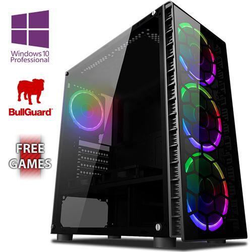 Vibox BX- 3 PC Gamer Ordinateur avec 2 Jeux Gratuits, Windows 10 Pro OS (4,0GHz AMD Ryzen Quad-Core Processeur , Graphiques Radeon Vega Intégrés, 8GB DDR4 2400MHz RAM, 1TB HDD) - Ordinateur - Unité centrale