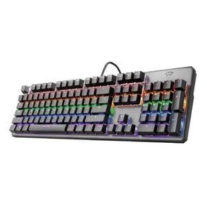 Trust GXT 865 Asta, Standard, Avec fil, USB, Clavier mécanique, LED RGB, Noir - Autres