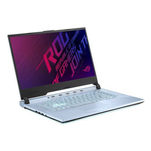 "Asus Ordinateur / PC Portable ASUS ROG Studio 15 PX531GT-BQ396R - Core i7 9750H / 2.6 GHz - Win 10 Pro - 16 Go RAM - 512 Go SSD - 15.6"" IPS 1920 x 1080 (Full HD) - GF GTX 1650 - 802.11ac, Bluetooth - bleu glacier avec barre lumineuse, bleu glace IMR"
