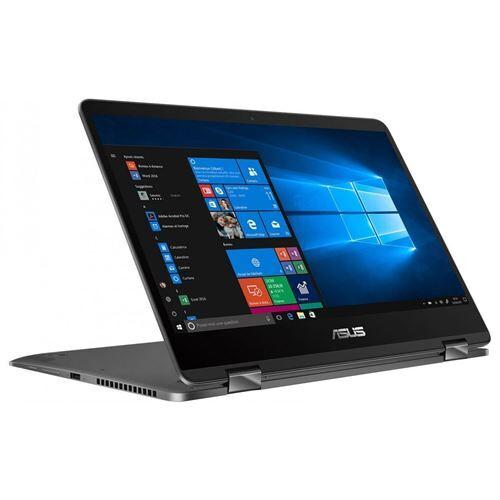"Asus Ordinateur / PC Portable ASUS ZenBook Flip 14 UX461FA-E1121R - Conception inclinable - Core i7 8565U / 1.8 GHz - Win 10 Pro - 16 Go RAM - 512 Go SSD - 14"" IPS écran tactile 1920 x 1080 (Full HD) - UHD Graphics 620 - 802.11ac, Bluetooth - gris ar"