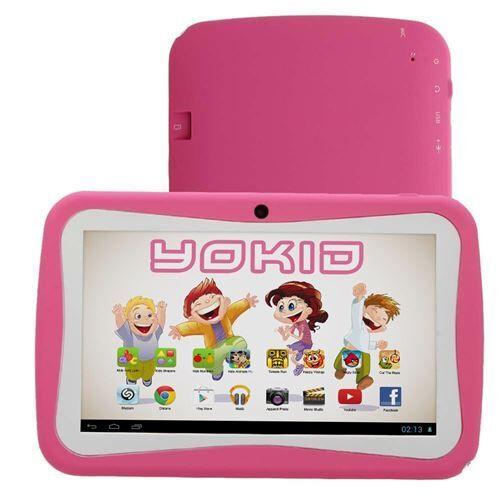 yonis tablette tactile 7' jouet numérique enfant android lollipop quad core 12 go rose - yonis - tablettes éducatives