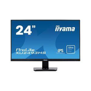 "iiyama ProLite XU2493HS-B1 - Écran LED - 23.8"" - 1920 x 1080 Full HD (1080p) - IPS - 250 cd/m² - 1000:1 - 4 ms - HDMI, VGA, DisplayPort - haut-parleurs - noir - Ecran PC"