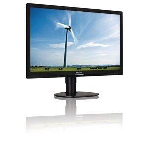 """Philips S-line 241S4LCB - Écran LED - 24"""" - 1920 x 1080 Full HD (1080p) - TN - 250 cd/m² - 1000:1 - 5 ms - DVI-D, VGA - noir texturé avec socle noir - Ecran PC"""