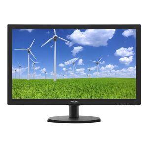 """Philips S-line 223S5LSB - Écran LED - 22"""" (21.5"""" visualisable) - 1920 x 1080 Full HD (1080p) - 250 cd/m² - 1000:1 - 5 ms - DVI-D, VGA - noir texturé, ligne de contour noire - Ecran PC"""