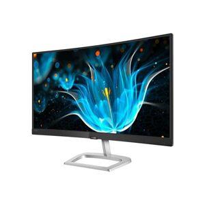 "Philips E-line 248E9QHSB - Écran LED - incurvé - 24"" (23.6"" visualisable) - 1920 x 1080 Full HD (1080p) - VA - 250 cd/m² - 3000:1 - 4 ms - HDMI, VGA - argent noir - Ecran PC"