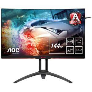 "AOC Gaming AG322QC4 - Écran LED - 31.5"" - 2560 x 1440 QHD - VA - 300 cd/m² - 2000:1 - 4 ms - 2xHDMI, 2xDisplayPort, VGA - haut-parleurs - avec Re-Spawned 4 Year Advance Replacement and Zero Dead Pixel Guarantee / 1 Year One-Time Accident Damage Exchange - Ecran PC"