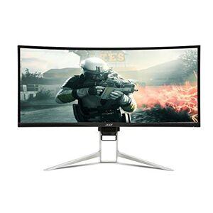 """Acer XR342CK - Écran LED - incurvé - 34"""" - 3440 x 1440 UWQHD - IPS - 300 cd/m² - 1 ms - 2xHDMI, DisplayPort - haut-parleurs - argenté(e) - Ecran PC"""