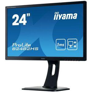"iiyama ProLite B2482HS-B1 - Écran LED - 24"" (24"" visualisable) - 1920 x 1080 Full HD (1080p) - TN - 250 cd/m² - 1000:1 - 1 ms - HDMI, DVI, VGA - haut-parleurs - noir - Ecran PC"